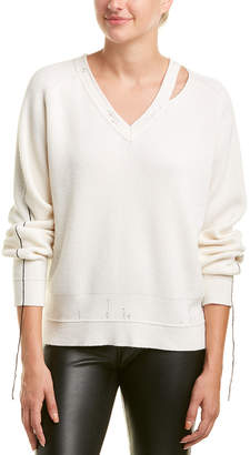 Helmut Lang Ribbed Wool & Cashmere-Blend Sweater