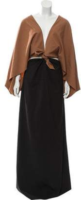 Rosie Assoulin Knotted Front Gown w/ Tags Brown Knotted Front Gown w/ Tags