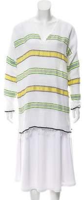 Lemlem Long Sleeve Frayed Top