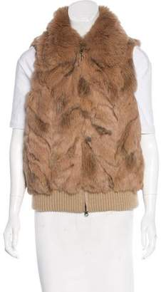 Jocelyn Fur Zip-Up Vest