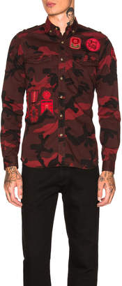 Valentino Camouflage Shirt with Patches