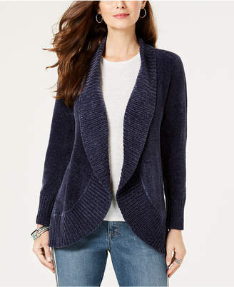 Style&Co. Style & Co Petite Chenille Cutaway Cardigan Sweater
