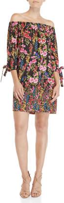 Vince Camuto Floral Off-the-Shoulder Shift Dress