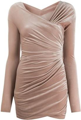 Alexandre Vauthier ruched one shoulder dress