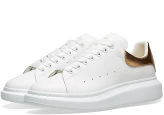Alexander McQueen Metallic Heel Tab Wedge Sole Sneaker