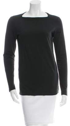 Tomas Maier Bateau Neck Long Sleeve Top