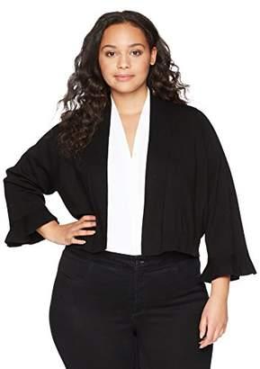 Calvin Klein Women's Plus-Size Lurex Basic Shrug Sweater