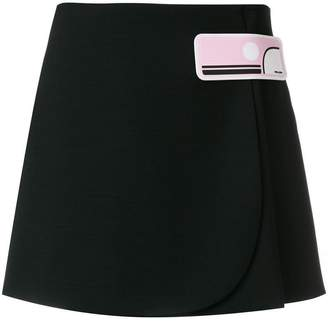 Prada appliqué short skirt