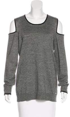 Calvin Klein Cutout-Accented Crew Neck Top