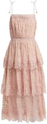 Zimmermann Castille silk-chiffon lace dress
