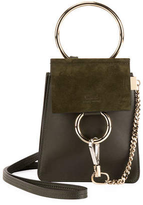 Chloé Faye Leather/Suede Bracelet Crossbody Bag