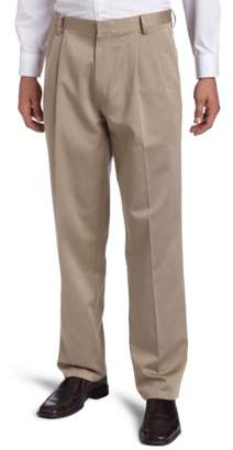 Dockers Never Iron Essential-Khaki Classic-Pleated Front Pant
