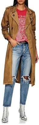 NSF Women's Dorian Paint-Splattered Cotton Trench Coat