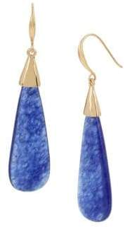 Robert Lee Morris Collection Wishbone Lapis Drop Earrings