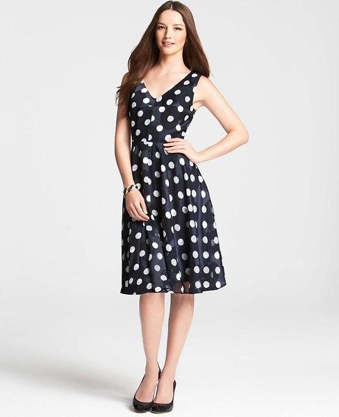 Ann Taylor Derby Polka Dot Dress