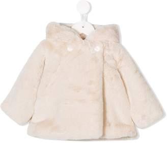 Douuod Kids faux fur hooded coat