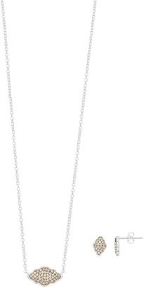 Brilliance+ Brilliance Crystal Pendant & Stud Earring Set with Swarovski Crystals