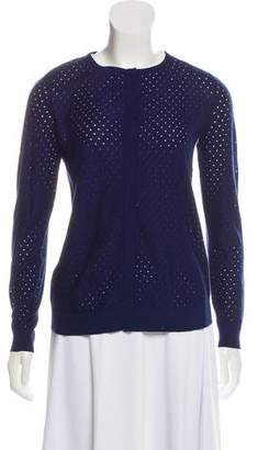 Akris Punto Open Knit Button-Up Cardigan