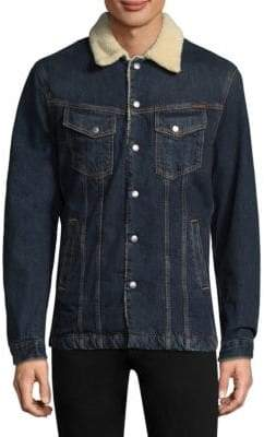 Nudie Jeans Lenny Faux-Shearling Denim Jacket