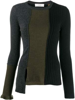 Pringle colour-block fitted sweater