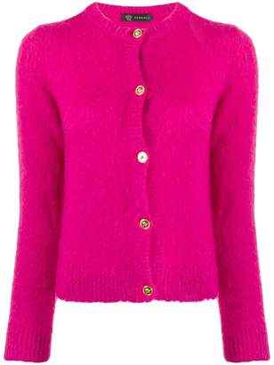 Versace fluffy knitted cardigan