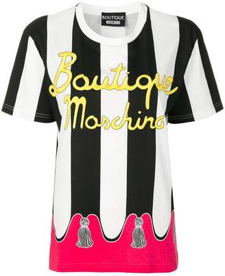 Moschino branded striped T-shirt
