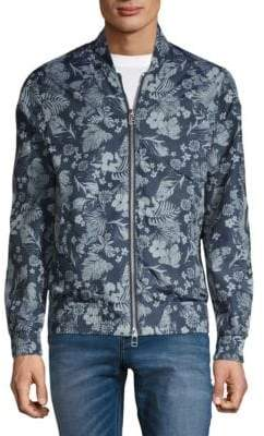 Slate & Stone Floral-Print Tech Bomber Jacket