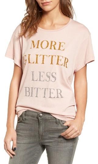 Women's Wildfox More Glitter Manchester Tee