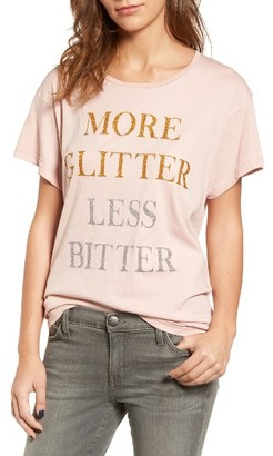 Women's Wildfox More Glitter Manchester Tee $68 thestylecure.com