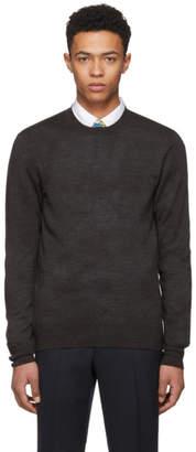 Comme des Garcons Homme Deux Grey Knit Crewneck Sweater