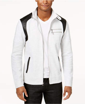 INC International Concepts I.n.c. Men's Fire Knit Moto Jacket, Created for Macy's