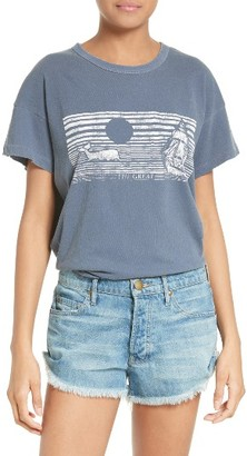Women's The Great. Graphic Cotton Tee $105 thestylecure.com
