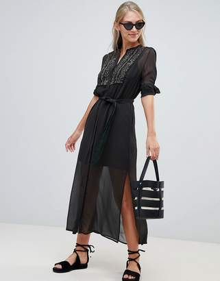 French Connection Donna Sheer Shirt Dress