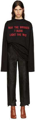 Vetements Black 'May The Bridges' T-Shirt $1,075 thestylecure.com