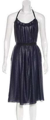 L'Agence Halter Knee-Length Dress