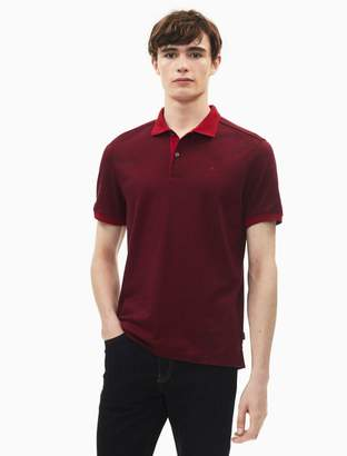 Calvin Klein regular fit liquid cotton feeder stripe polo shirt