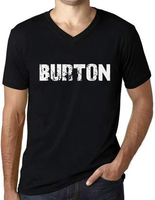 Burton One in the City Men's Vintage Tee Shirt V-Neck Graphic T Shirt