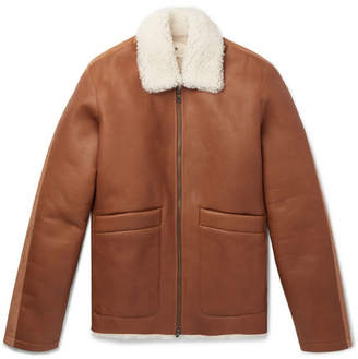 Folk Shearling Jacket - Men - Brown