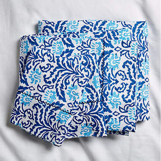 One Kings Lane Roller Rabbit for Damask Sheet Set - Bright Blue