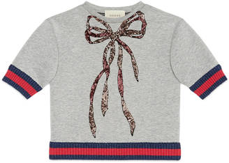 Children's sweatshirt with sequin bow $420 thestylecure.com