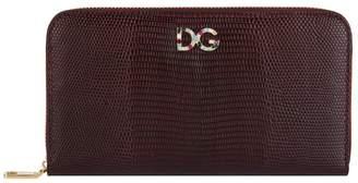 Dolce & Gabbana Leather Logo Zip-Around Wallet