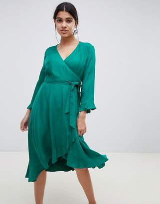 Suncoo frill wrap dress