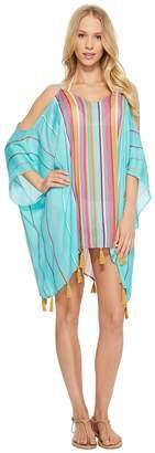 Nanette Lepore Sayulita Cold Shoulder Caftan Cover-Up Women's Swimwear
