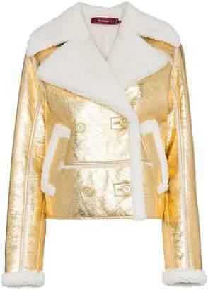 Sies Marjan Hensley metallic aviator jacket