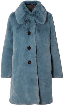 Marc Jacobs Faux Fur Coat - Blue