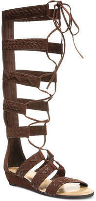 Carlos by Carlos Santana Kingston Tall Lace-Up Gladiator Sandals $110 thestylecure.com