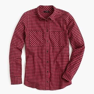 J.Crew Petite boy shirt in mini buffalo check