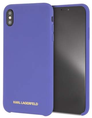 Karl Lagerfeld Violet Silicone Soft Touch iPhone XS Max Case