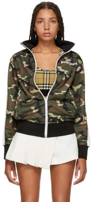 Palm Angels Green Camo Track Jacket