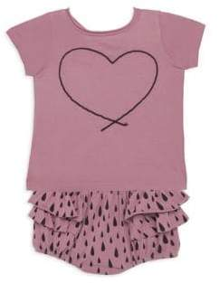 Joah Love Baby's Two-Piece Ruffled Cotton Top and Bloomers Set